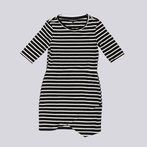 TOPSHOP Striped Asymmetrical Dress